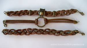 braided leather chain bracelet images How to make braided leather stacked bracelets adventures of a jpg
