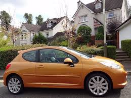 peugeot 207 2007 2007 peugeot 207 gt 1 6 hdi 3dr sp sports kit burnt orange fsh