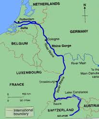 map of germany showing rivers facts about the river rhine