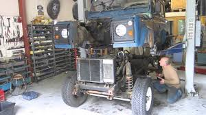 lifted land rover defender lifting the body of a 1985 land rover 90 chassis youtube