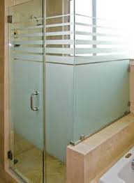 etched glass shower enclosure for the home inside pinterest