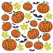 halloween white background cartoon pumpkins and bats on a white background halloween