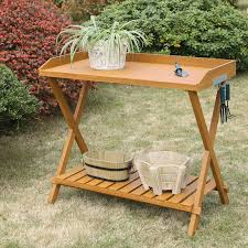 Inexpensive Potting Bench by Convenience Concepts Potting Bench Hayneedle