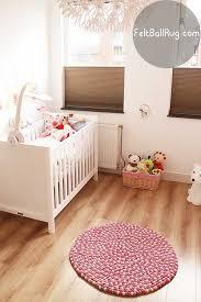 baby nursery decor felt ball baby nursery rug round shape