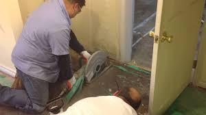 saw cutting the basement floor mov youtube