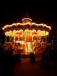 pretty merry go in the tivoli gardens copenhagen at