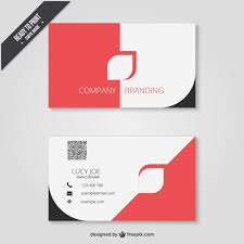 business card in modern design vector free