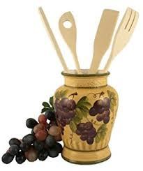 amazon com 4pc ceramic canister set tuscany grape kitchen