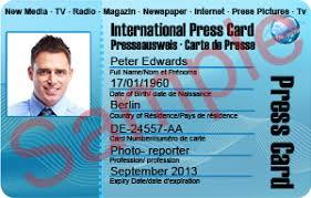international press federation ipf international press card