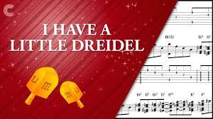 musical dreidel piano i a dreidel hanukkah song sheet