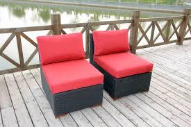 Armless Slipper Chair Patio Chairs