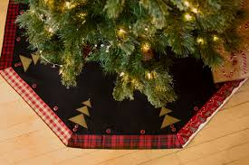 christmas tree skirt rustic plaid made in usa 52 inch lodge
