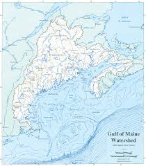 Maine State Map by Gulf Of Maine Council