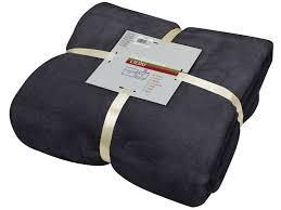 plaid canapé noir plaid 140x200 cm lilou coloris noir vente de plaid et couverture