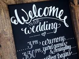 wedding chalkboard wedding schedule chalkboard by bre mccallum dribbble