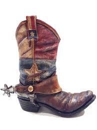 Lone Star Western Decor Coupon Amazon Com Texas Lone Star Cowboy Boot With Spur Vase Planter For