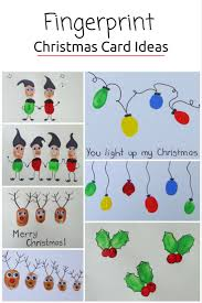 christmas cards ideas fingerprint christmas cards be a