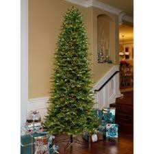 slim christmas tree with led colored lights artificial 12 foot christmas tree pre lit spruce multi color 1200
