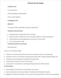 production resume template manufacturing resume template 26 free sles exles format