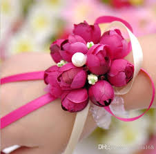 Cheap Corsages For Prom Discount 2016 Real Boutonnieres Wedding Prom Wrist Corsage With