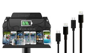 phone charger station cell phone charging station 8 device stand custom graphic