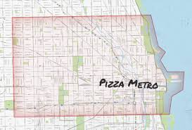 Taste Of Chicago Map Chicago Pizza Delivery Map Piece Salernos Pequods And More