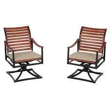 Hampton Bay Corranade 5 Piece - hampton bay brown steel outdoor dining chairs patio chairs