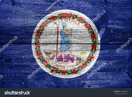 State Flag Of Virginia Flag Commonwealth Virginia Painted On Old Stock Illustration