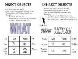 17 best object pronouns images on pinterest spanish classroom