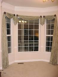Valances For Bay Windows Inspiration Window Curtain Beautiful How To Make Curtains For A Bay Window