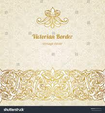 Victorian Design Style Vector Vintage Border Victorian Style Ornate Stock Vector