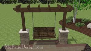 Patio Designs With Pergola by 5 Ft Patio Swing With Cedar Pergola Create The Perfect Place To