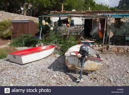 old fishing house an beach of cala tuent sa calobra tramuntana