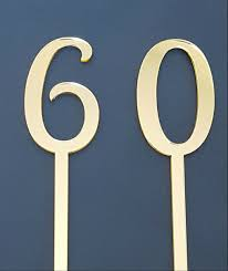 cake topper numbers numbers 0 9 birthday or anniversary cake topper picks set of 2