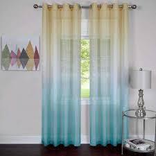 Blue Sheer Curtain Grommet Blue Sheer Curtains Drapes Window Treatments