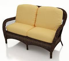 Wicker Settee Replacement Cushions Berkshire Wicker Loveseat Sofa