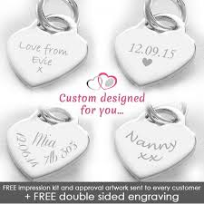 engravable sterling silver charms photo engraved sterling silver heart charm silver heartprints