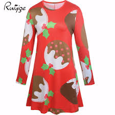 womens red christmas dresses promotion shop for promotional womens