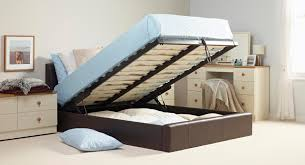 single leather storage bed