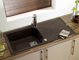 b and q sinks kitchen single bowl kitchen sink composite with drainboard helix 1 0