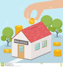 saving money for buy home concept vector design stock vector