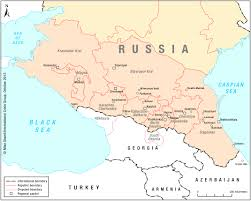 Russia And Central Asia Map by North Caucasus Maps Eurasian Geopolitics