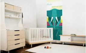 fresque chambre bébé papier peint enfant jungle déco murale elephant chambre bébé
