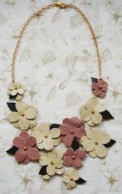 leather flower necklace images Leather flower necklace could be a diy with scrap leather would jpg