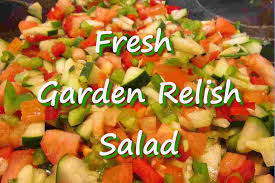 fresh vegetable garden relish salad recipe with vinaigrette youtube
