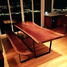 Edge Walnut Dining Set U2013 by Natural Timber Dining Table Dining Room 60pct Polyester 40pct