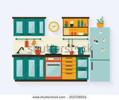 www kitchen furniture kitchen furniture shadows flat style stock vector 215338024