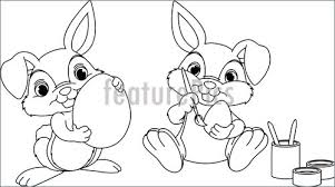 holidays easter bunny coloring stock illustration i3185912