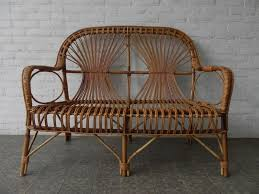 Wicker Kitchen Furniture Furniture Breathtaking Appealing Wicker Basket Rattan Bench And