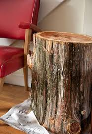 How To Make A Wood Stump End Table by A Diy Tree Stump Table The Reveal Diy Del Ray